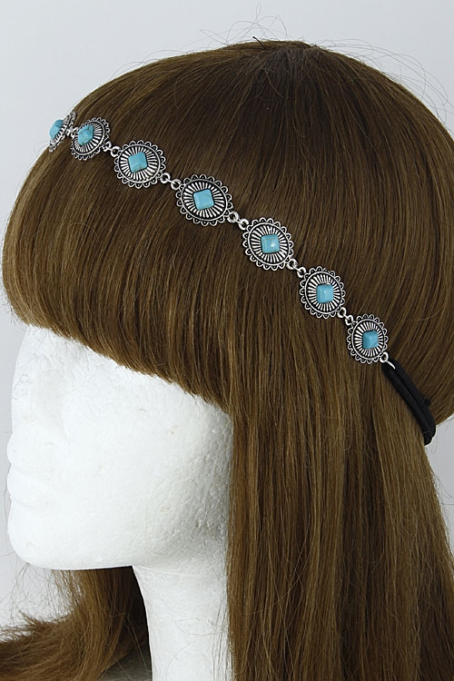Antique Diamond Stone Headband - orangeshine.com