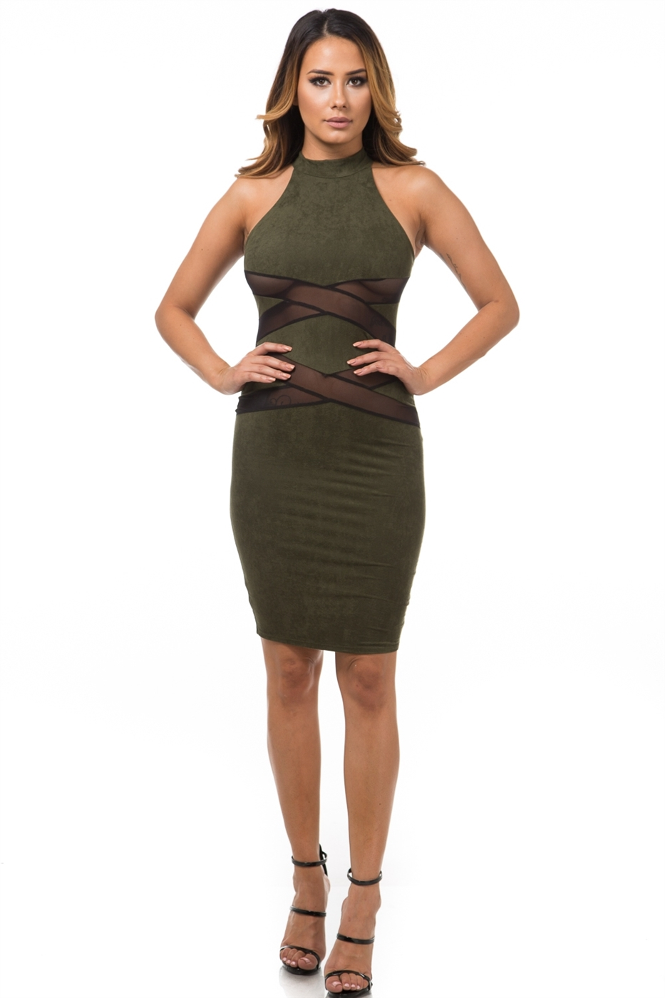 Suede sexy dress - orangeshine.com