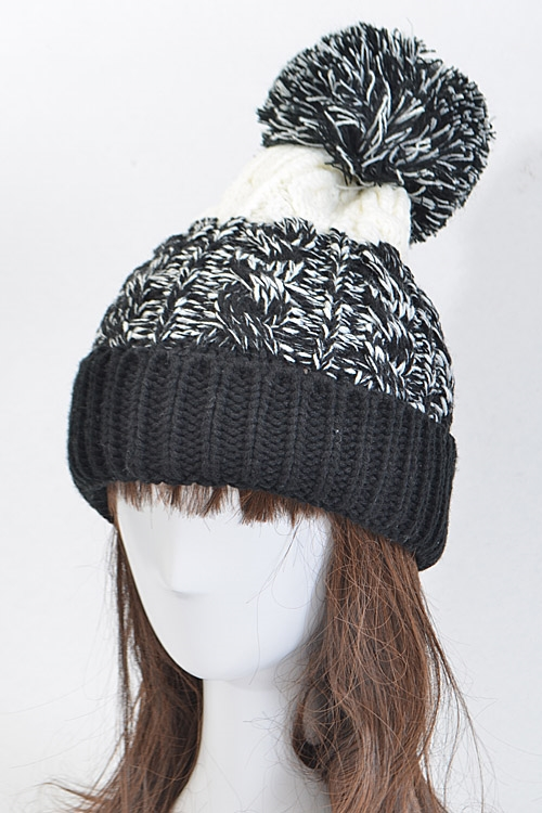 Multi Toned Patterned Beanie - orangeshine.com