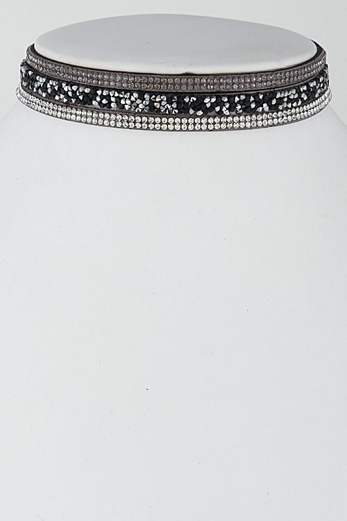 Fashion Choker with Rhinestone - orangeshine.com
