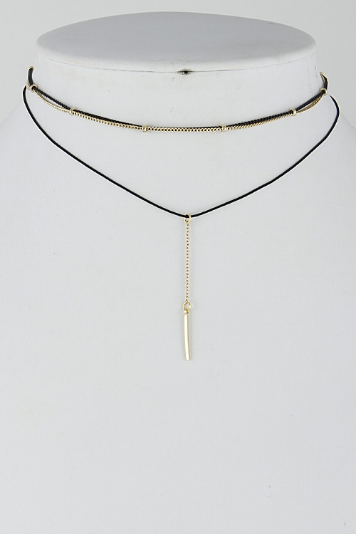 Simple Multi Layer Choker - orangeshine.com