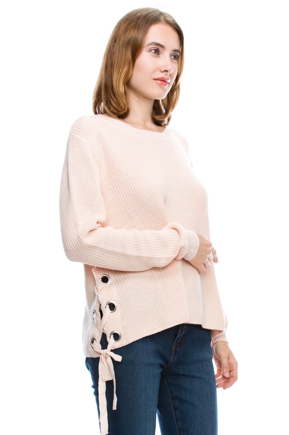 LACE UP SWEATER - orangeshine.com