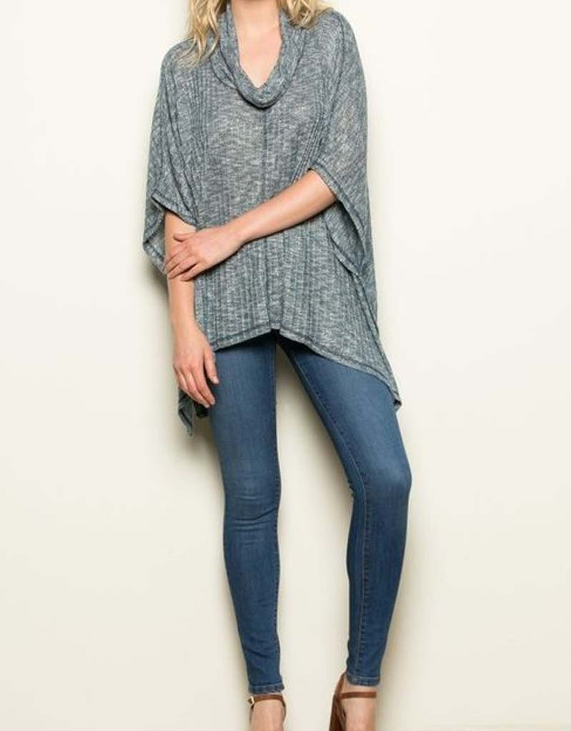 Turtle Neck Knit Top - orangeshine.com