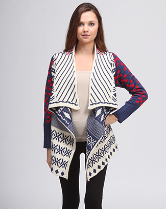 MULTI COLOR KNITTED CARDIGAN - orangeshine.com