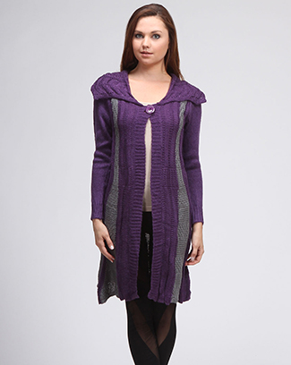 COLOR TRIM CARDIGAN - orangeshine.com