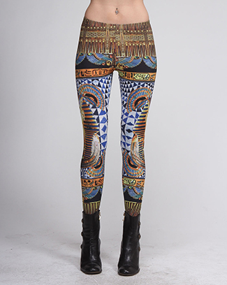 PARAO EGYPTON PRINT LEGGINGS - orangeshine.com
