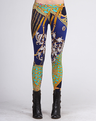 BAROQUE/CHARM PRINT LEGGINGS - orangeshine.com