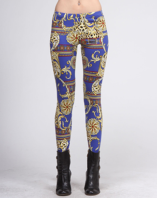 BAROQUE STYLE PRINT LEGGINGS - orangeshine.com