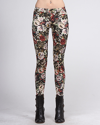 FLORAL PRINT LEGGINGS - orangeshine.com