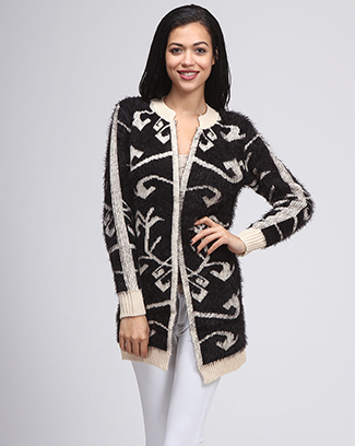 FURRY CARDIGAN - orangeshine.com