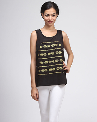 ETHNIC EMBROIDERY TANK TOP - orangeshine.com