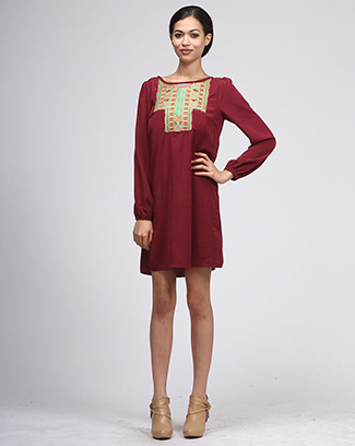 ETHNIC EMBROIDERY DRESS - orangeshine.com