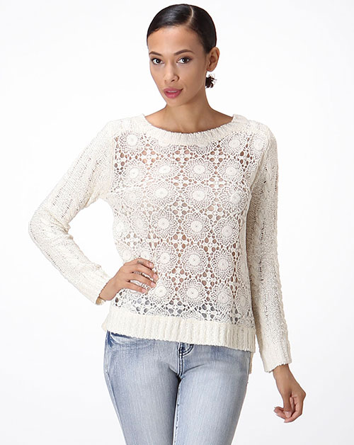 CROCHET SEE THROUGH SWEATER - orangeshine.com