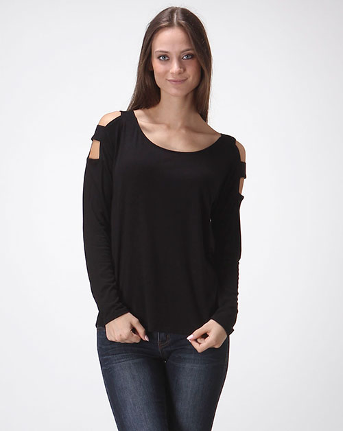 RAYON SPX OPEN SHOULDER TOP - orangeshine.com