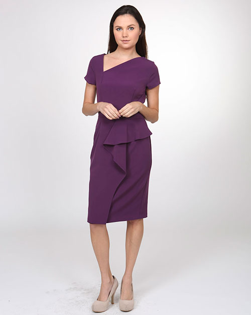 SIDE PEPLUM DRESS - orangeshine.com