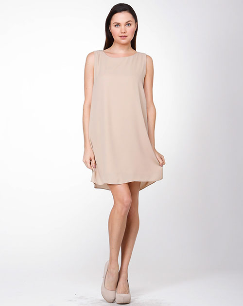 SLVLS BASIC SHIFT DRESS - orangeshine.com