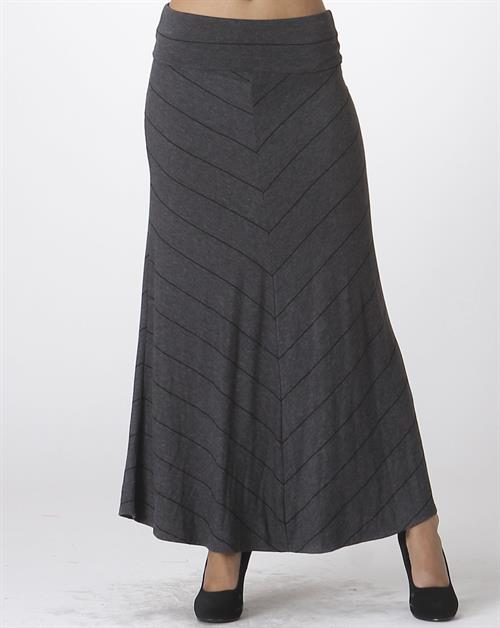 Pin stripe maxi skirt - orangeshine.com