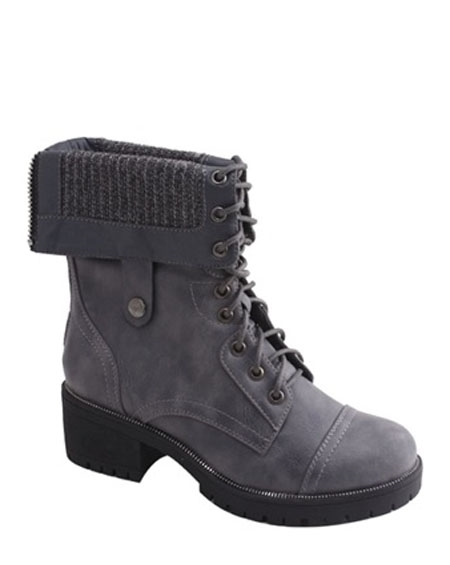 FOLDED LACED BOOTS - orangeshine.com