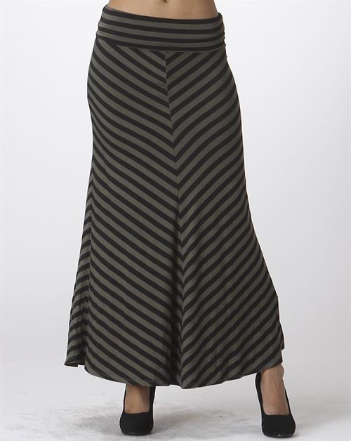 Stripe maxi skirt - orangeshine.com