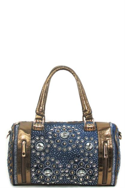 Denim Luxury satchel - orangeshine.com