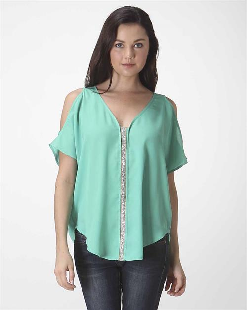 OPEN SHOULDER BLOUSE - orangeshine.com