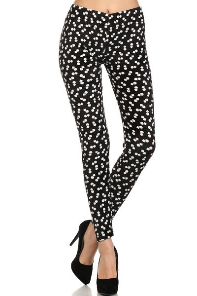 PRINTED VELVET LEGGINGS - orangeshine.com