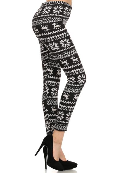 PRINTED FLEECE LEGGINGS - orangeshine.com