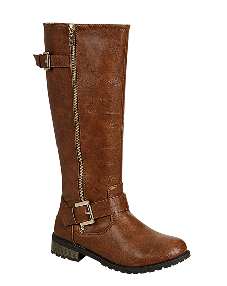 BUCKLED ZIP UP BOOTS - orangeshine.com