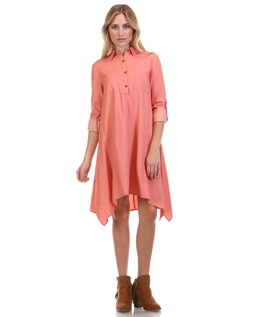 DENIM TENCIL DRESS - orangeshine.com