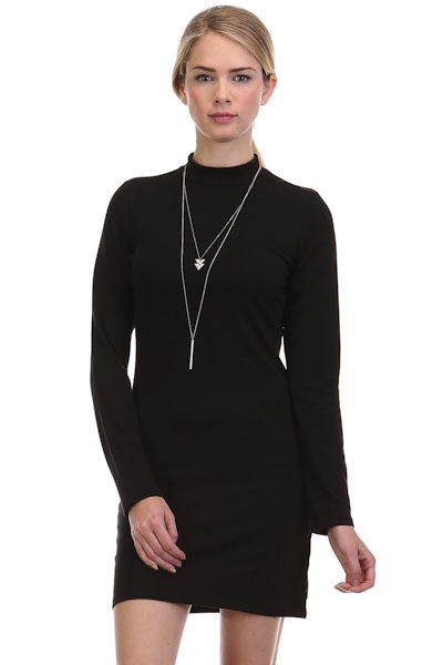 Longsleeve Mock Neck Dress - orangeshine.com