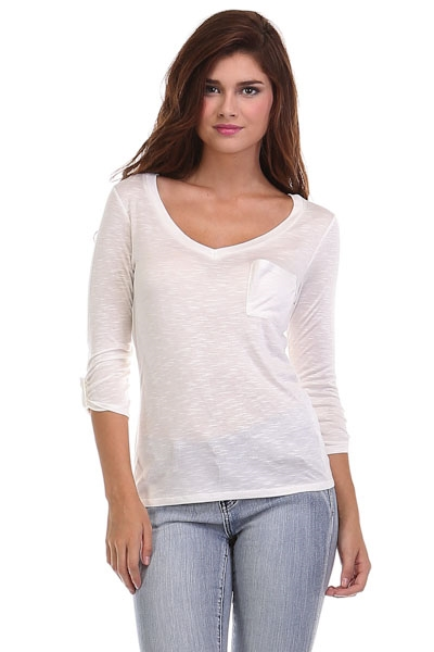 3/4 Sleeve Tan V-Neck Top - orangeshine.com