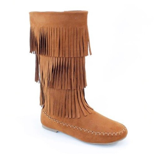 High Fringe Boots - orangeshine.com