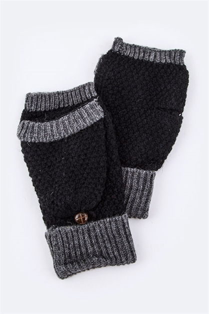 Convertable Knit Gloves - orangeshine.com
