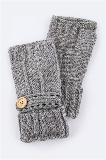 Button Fingerless Gloves - orangeshine.com