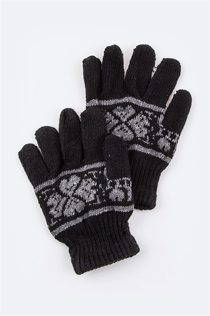 Clover Intarsia Kids Gloves - orangeshine.com
