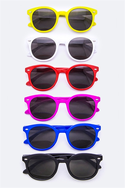 Kids Fashion Round Sunglasses - orangeshine.com