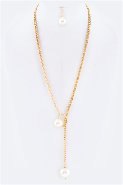 Pearl Iconic Sliding Necklace  - orangeshine.com