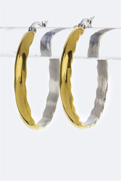 2 Tone Stainless Steel Hoops - orangeshine.com