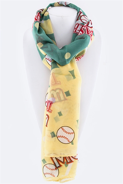 Baseball Mom Fashion Scarf - orangeshine.com