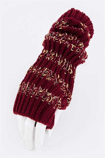 Lurex Fingerless Fashion Glove - orangeshine.com