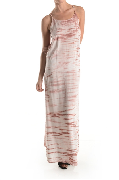 SQUARE BACK TIE-DYE MAXI DRESS - orangeshine.com