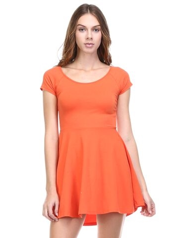 SOLID OPEN BACK DRESS - orangeshine.com
