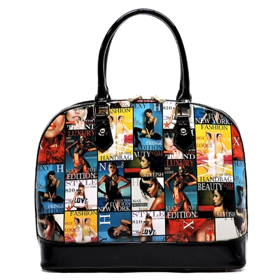 Magazine Cover Dome Satchel - orangeshine.com