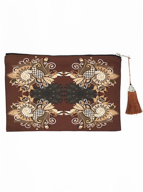 Dark Taupe Clutch - orangeshine.com