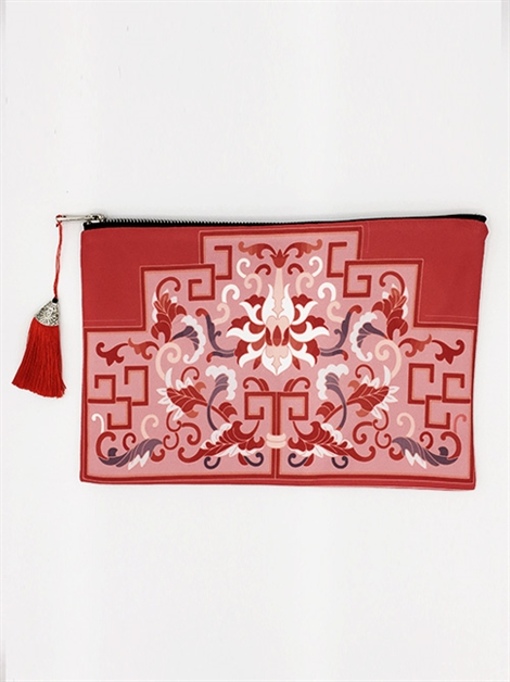 Wine Print Clutch - orangeshine.com