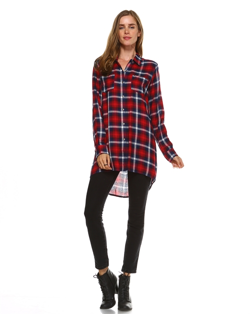 CHECKER HI-LOW TUNIC - orangeshine.com