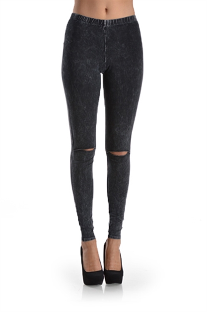 KNEE CUT OUT LEGGINGS - orangeshine.com