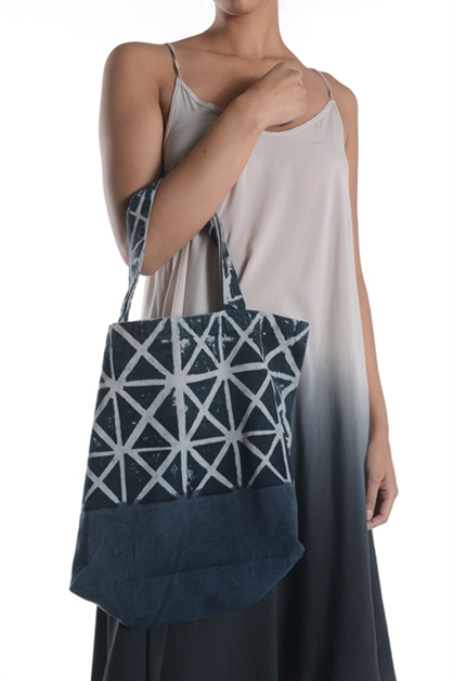 TRIANGLE DIP DYE TOTE BAG - orangeshine.com