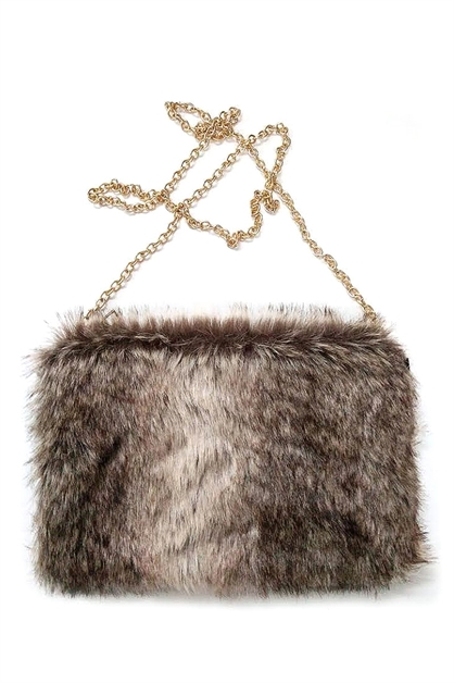Faux Fur Cuddle Clutch Purse - orangeshine.com