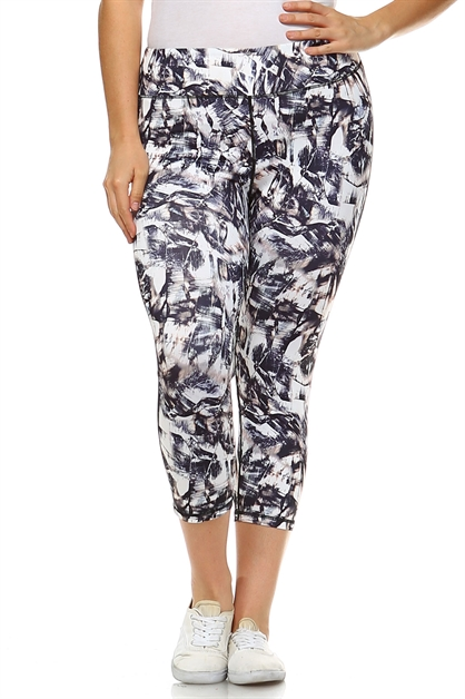 PRINT CAPRI LEGGINGS - orangeshine.com
